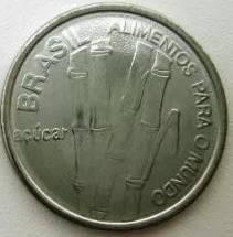 Coin V348 Moeda Brasil 1 Cruzeiro (FAO) 1985 Brazil obverse