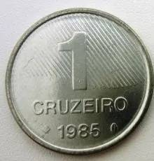 Coin V348 Moeda Brasil 1 Cruzeiro (FAO) 1985 Brazil reverse