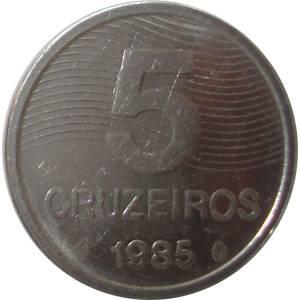 Coin V354 Moeda Brasil 5 Cruzeiros (FAO) 1985 Brazil reverse