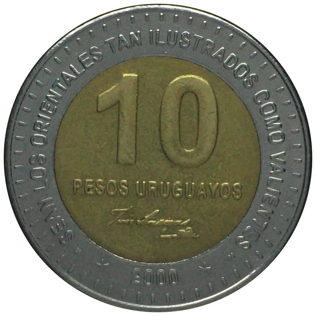 Coin 10 Pesos Uruguayos Uruguay obverse