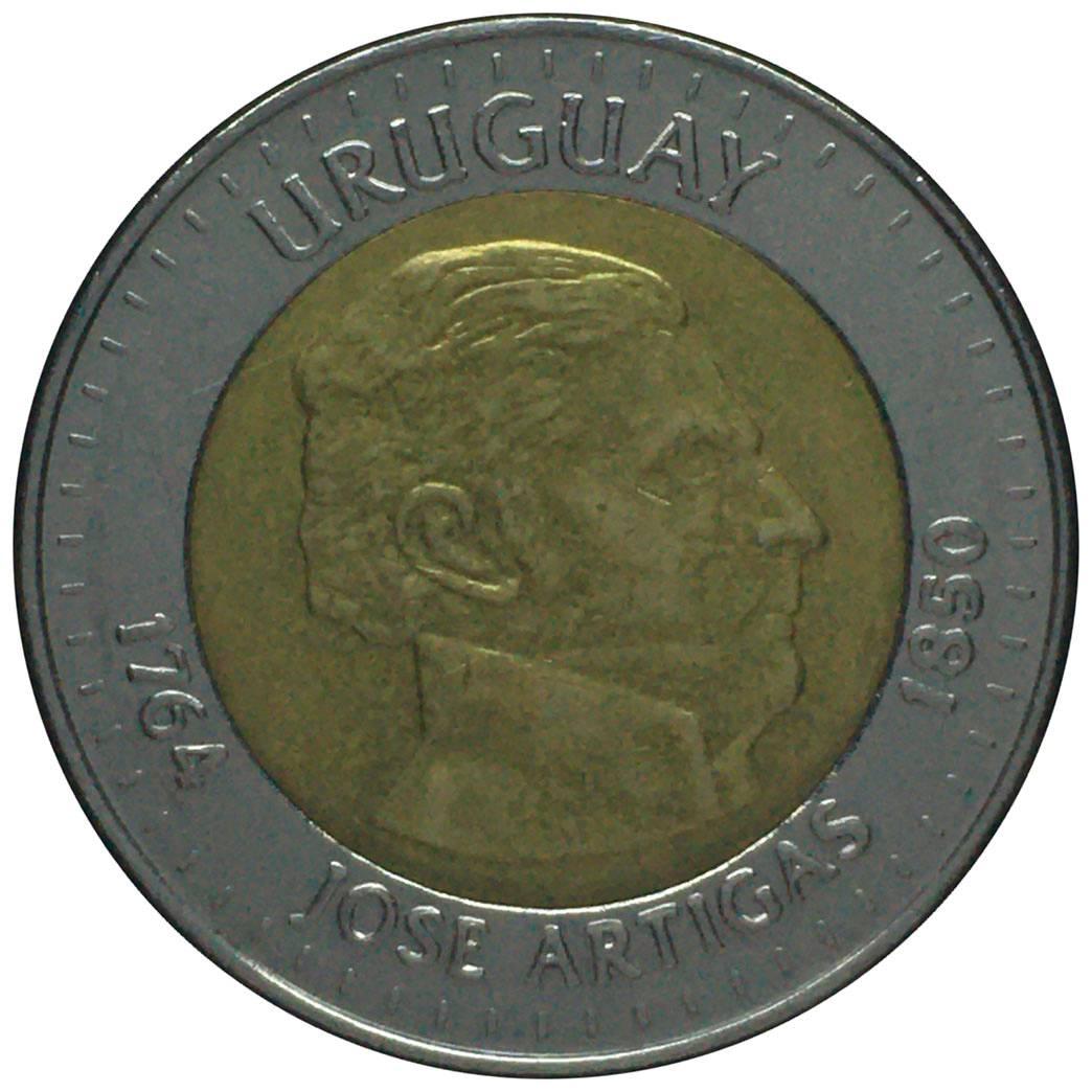 Coin 10 Pesos Uruguayos Uruguay reverse