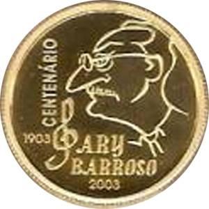 Coin O745 Moeda Brasil 20 Reais 2003 Centenario de Nascimento do Compositor Ary Barroso  (Ary Barroso) Brazil obverse