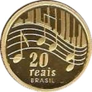 Coin O745 Moeda Brasil 20 Reais 2003 Centenario de Nascimento do Compositor Ary Barroso  (Ary Barroso) Brazil reverse