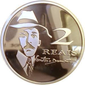 Coin P741 Moeda Brasil 2 Reais 2006 Comemorativa do Centenário do Vôo do 14 Bis  (Flight of 14 Bis) Brazil obverse
