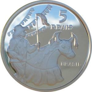 Coin P753 Moeda Brasil 5 Reais 2014 São Luis Patrimonio da Humanidade UNESCO (São Luís) Brazil reverse