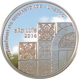 Coin P753 Moeda Brasil 5 Reais 2014 São Luis Patrimonio da Humanidade UNESCO (São Luís) Brazil obverse