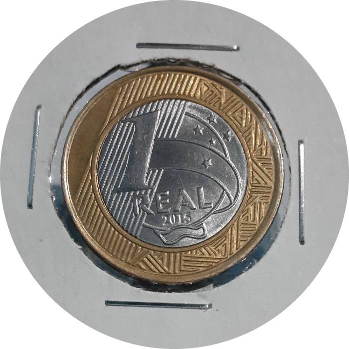 Coin 1 Real (Olympic Games Rio 2016 - Basketball) Brazil reverse