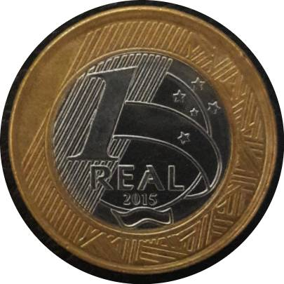 Coin 1 Real (50 Years of Central Bank) Brazil obverse