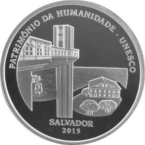 Coin P758 Moeda Brasil 5 Reais 2015 Salvador - Patrimônio da Humanidade - UNESCO (Salvador) Brazil obverse