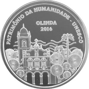 Coin P759 Moeda Brasil 5 Reais 2016 Olinda Patrimonio Cultural da Humanidade UNESCO (Olinda) Brazil obverse