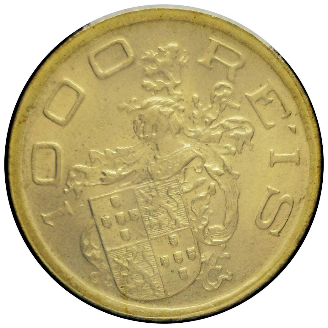 Coin 1000 Réis (400th Anniversary of Colonization) Brazil obverse