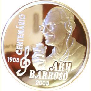 Coin P738 Moeda 2 Reais 2003 100 Anos Nasc. Compositor Ary Barroso (Ary Barroso) Brazil obverse
