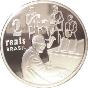 Coin P738 Moeda 2 Reais 2003 100 Anos Nasc. Compositor Ary Barroso (Ary Barroso) Brazil reverse