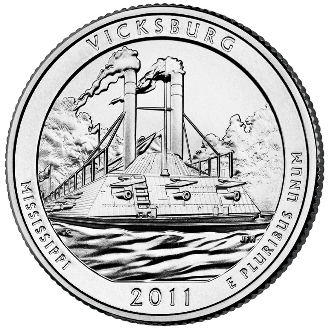 "Coin ¼ Dollar ""Washington Quarter"" (Vicksburg National Military Park, Mississippi) United States of America reverse"