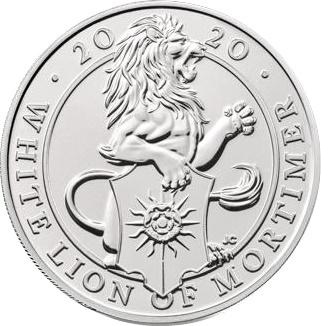 Coin 5 Pounds - Elizabeth II (5th portrait; The White Lion of Mortimer) United Kingdom of Great Britain and Northern Ireland reverse