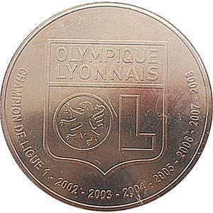 Coin 1½ Euro (Olympique Lyonnais) France reverse