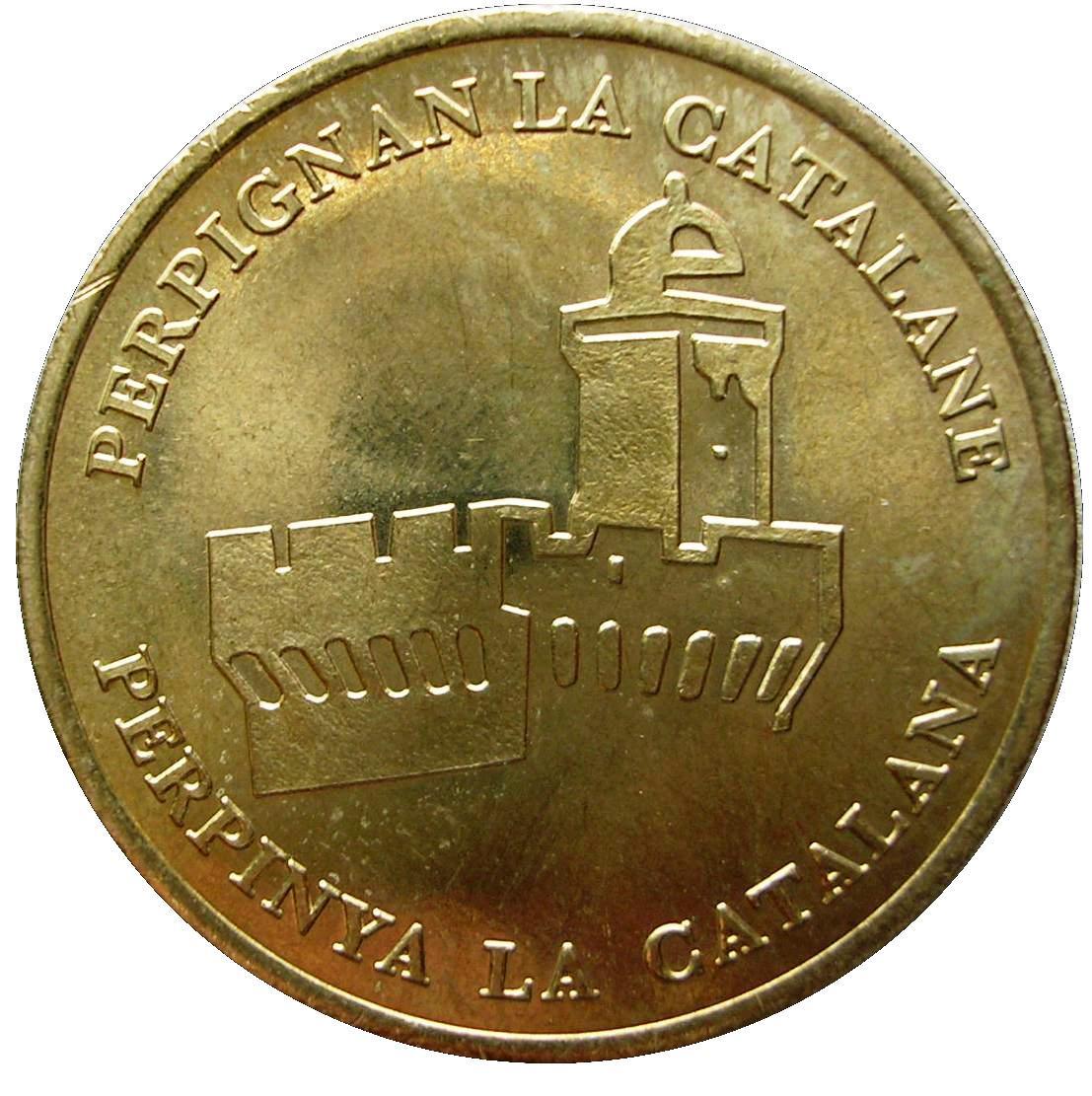 Coin 1 Euro - Perpignan France obverse