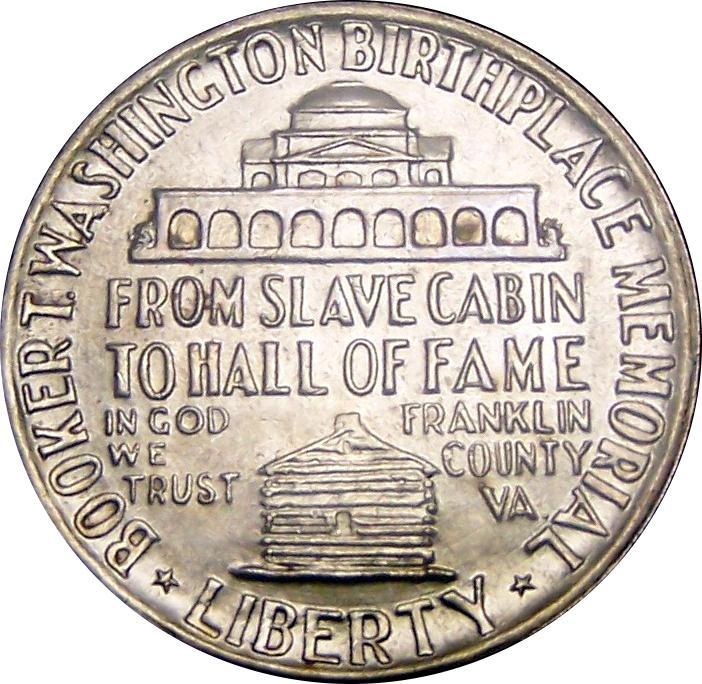 Coin ½ Dollar (Booker T. Washington Memorial) United States of America reverse
