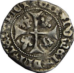 Coin Blanc du Dauphiné -  Louis II France reverse