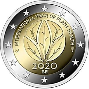 Coin 2 Euro (International Year of Plant Health) Belgium obverse