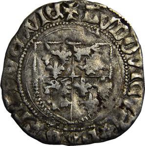 Coin Blanc du Dauphiné -  Louis II France obverse