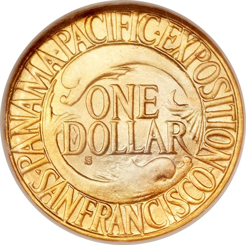 Coin 1 Dollar (Panama–Pacific Exposition) United States of America reverse