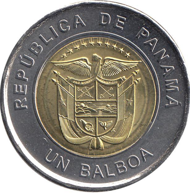 Coin 1 Balboa (Saint Francis of Assisi Church) Panama obverse