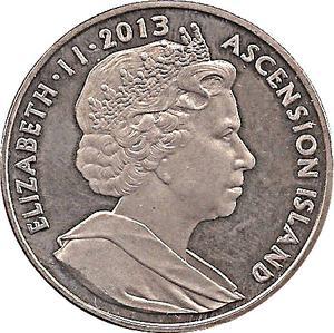 Coin 1 Crown - Elizabeth II Saint Helena, Ascension and Tristan da Cunha obverse