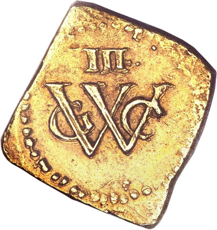 Coin 3 Florins (Geoctroyeerde Westindische Compagnie) New Holland obverse