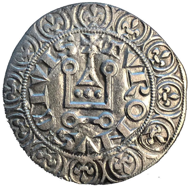 Coin Gros tournois - Philippe V Kingdom of France reverse