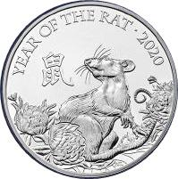 Coin 5 Pounds - Elizabeth II (5th portrait; Year of the Rat) United Kingdom of Great Britain and Northern Ireland reverse