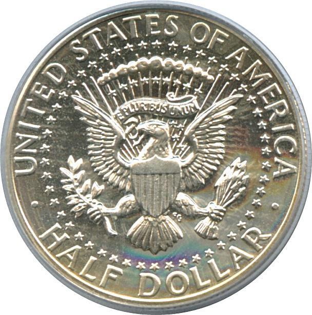 "Coin ½ Dollar ""Kennedy Half Dollar"" (90% Silver) United States of America reverse"