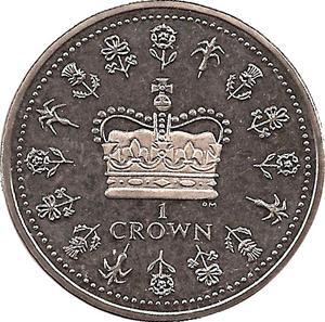 Coin 1 Crown - Elizabeth II Saint Helena, Ascension and Tristan da Cunha reverse