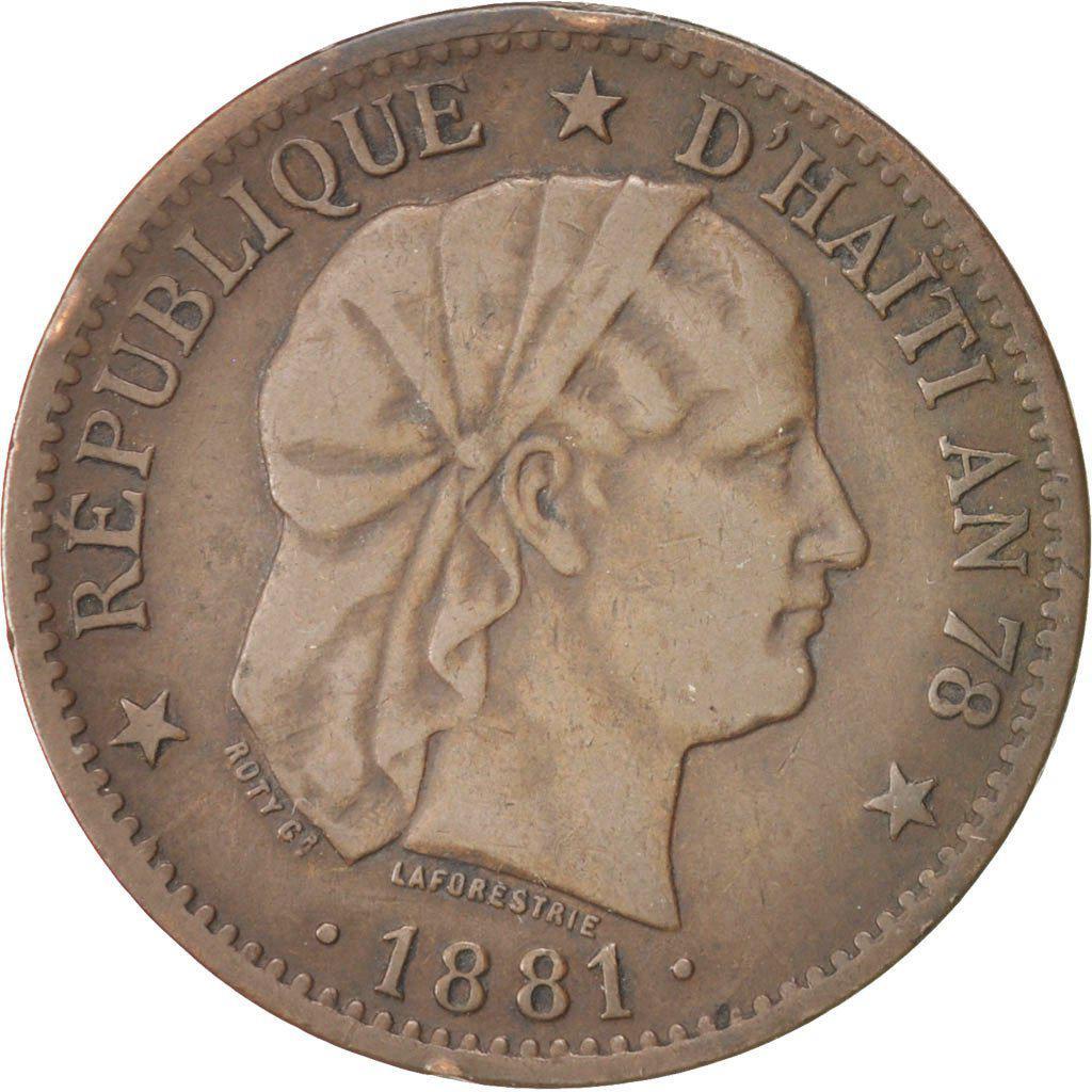 Coin 2 Centimes Haiti obverse