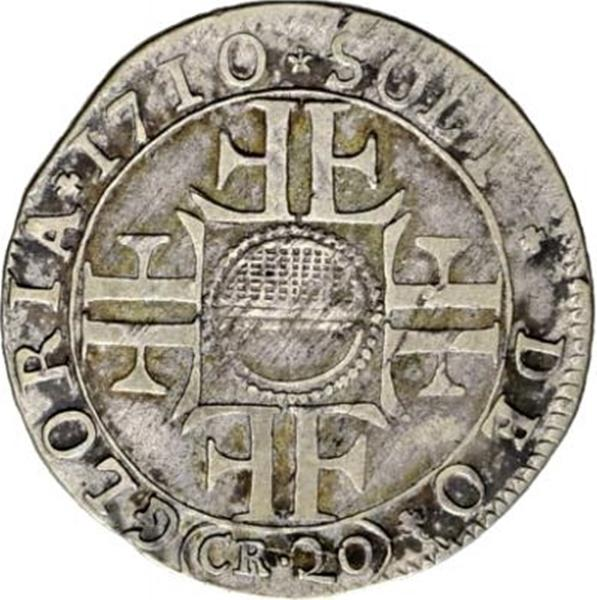 Coin 20 Kreuzer City of Fribourg reverse