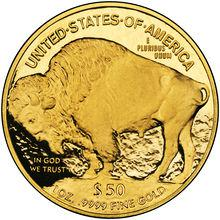 """Coin 50 Dollars """"American Buffalo"""" (Gold Bullion Coinage) United States of America reverse"""