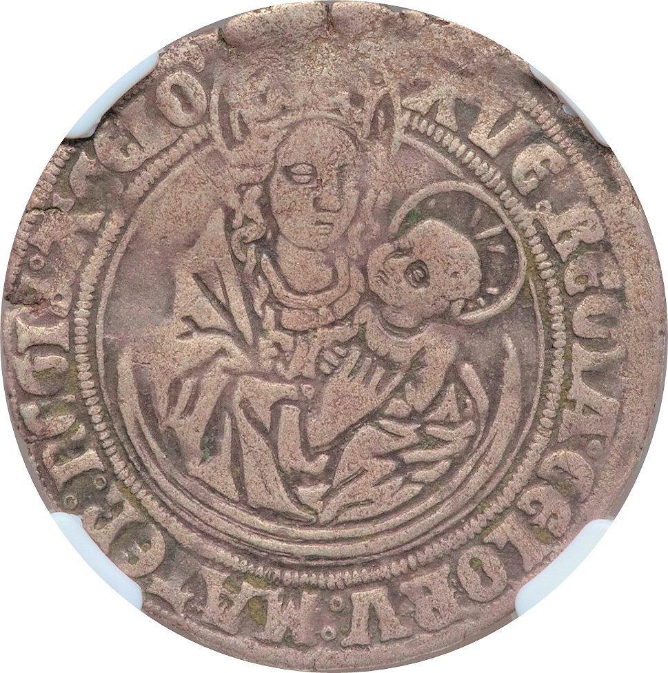 Coin 1 Mariengroschen Free imperial city of Aachen obverse