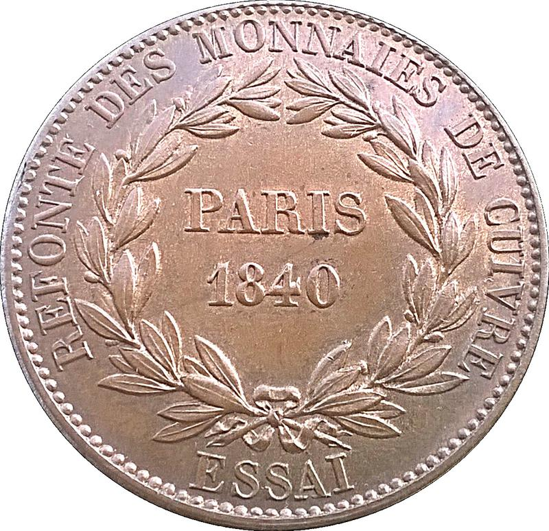 Coin 1 Décime - Louis Philippe I (pattern of Barre with an modul of 1 decime) France - Modern reverse