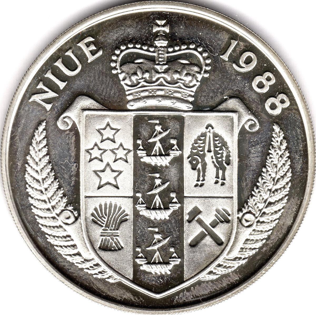 Coin 50 Dollars - Elizabeth II (Death of John F. Kennedy) Niue obverse