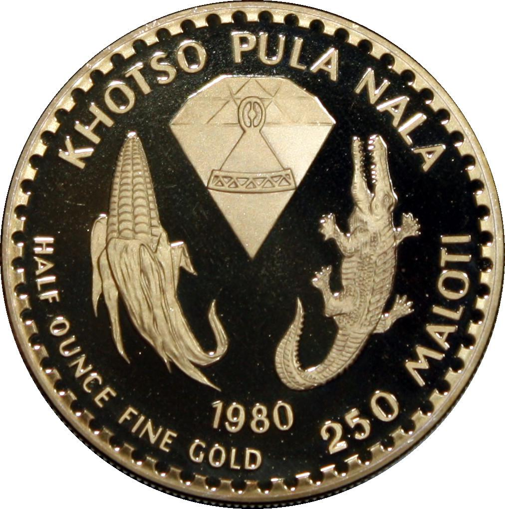 Coin [object Object] Lesotho reverse