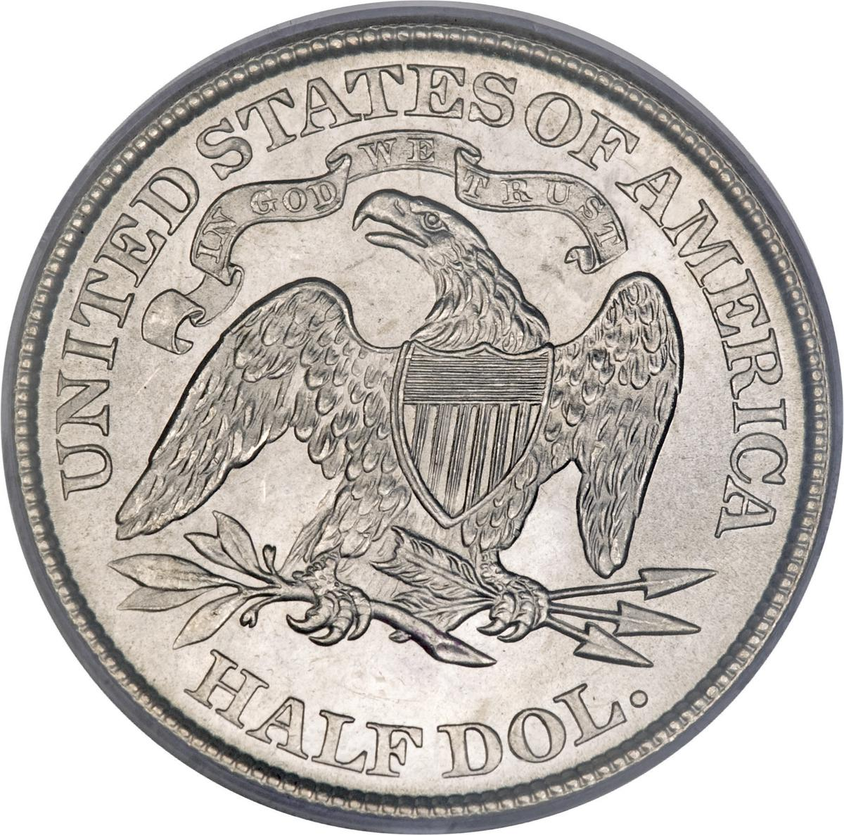 """Coin ½ Dollar  """"Seated Liberty Half Dollar"""" (with date arrows United States of America reverse"""