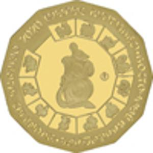 Coin 500 Tenge (Year of the Mouse; Gold) Kazakhstan reverse