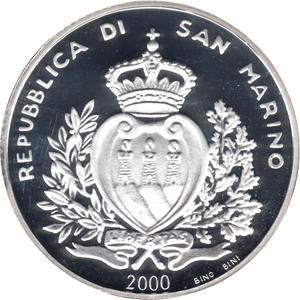 Coin 10 000 Lire (Foundation) San Marino obverse