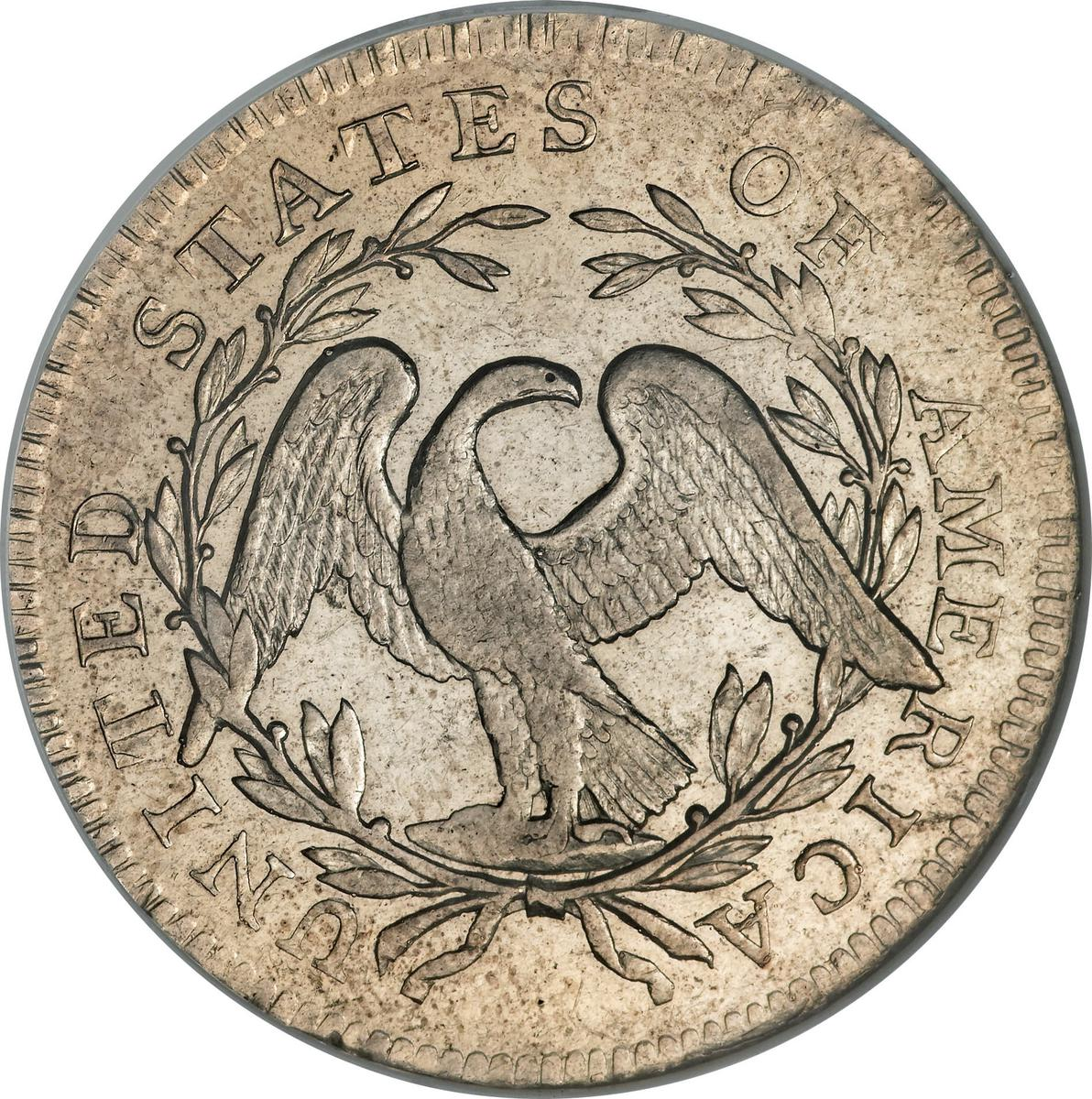 "Coin ½ Dollar ""Flowing Hair Half Dollar"" (small eagle) United States of America reverse"
