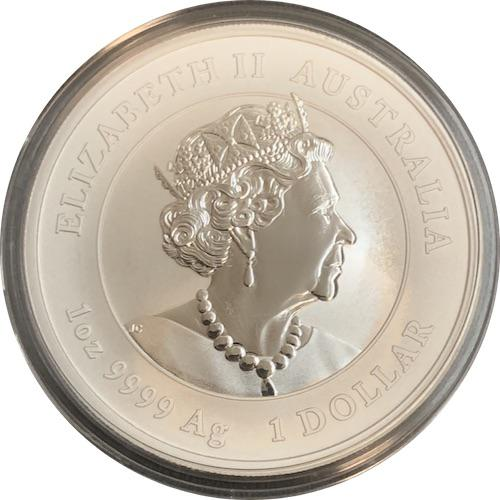 Coin 1 Dollar - Elizabeth II (6th Portrait - Year of the Mouse) Australia obverse