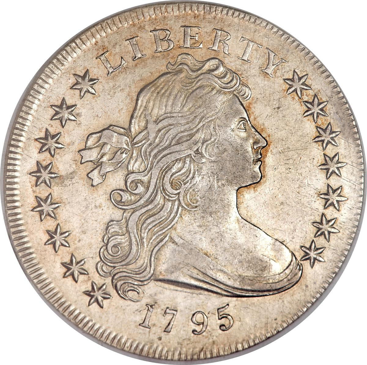 """Coin 1 Dollar """"Draped Bust Dollar"""" United States of America obverse"""