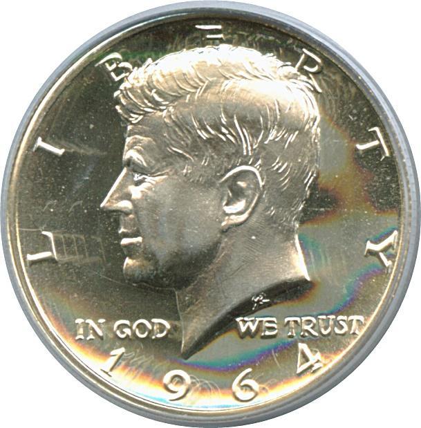 "Coin ½ Dollar ""Kennedy Half Dollar"" (90% Silver) United States of America obverse"