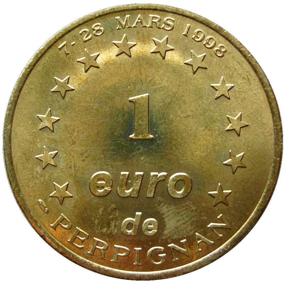 Coin 1 Euro - Perpignan France reverse