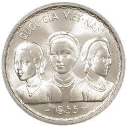 Coin 50 Xu - Bảo Đại Viet Nam obverse