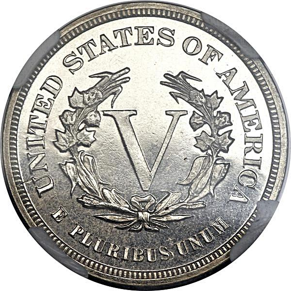 "Coin 5 Cents ""1883 Liberty Nickel"" (Pattern) United States of America reverse"